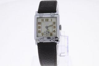 Wyler Vintage Armbanduhr Mit Handaufzug Old Stock Bild