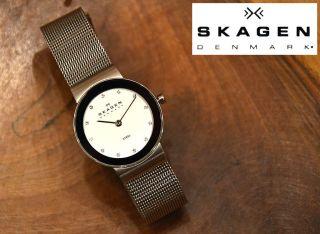 Skagen Damenuhr Slimline Stahl 358sssd,  Armbanduhr,  W. Bild