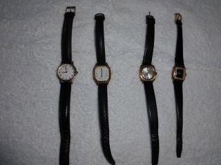 Konvolut ältere,  Hochwertige Damen Armbanduhren,  Teils Vergoldet Bild