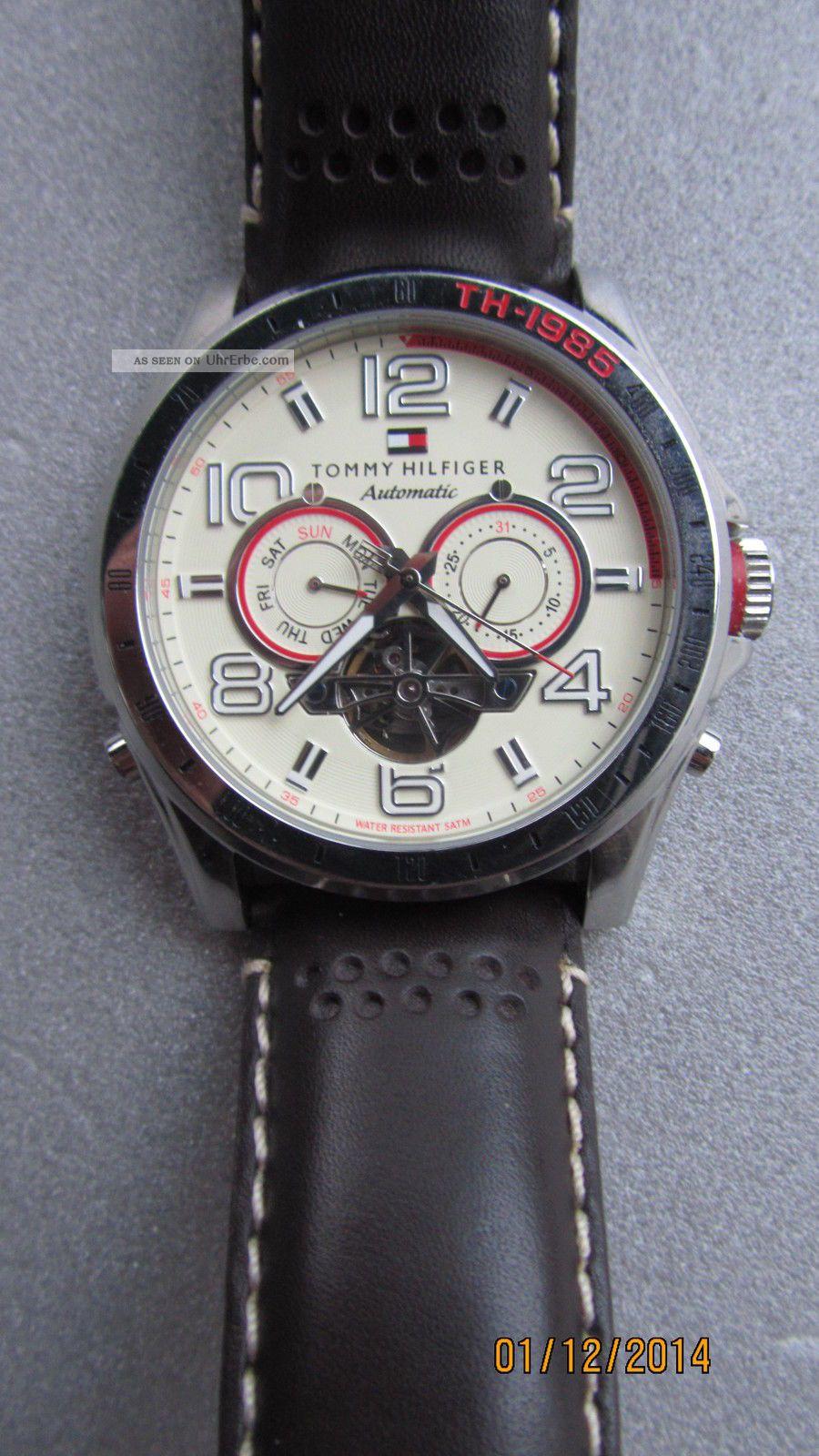 Tommy Hilfiger Th.  98.  1.  14.  0858 Automatic Herrenuhr Armbanduhren Bild