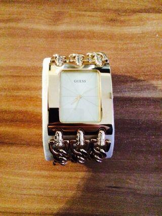 Guess Heavy Metal Damenuhr Armbanduhr Uhr Kettenband Bild