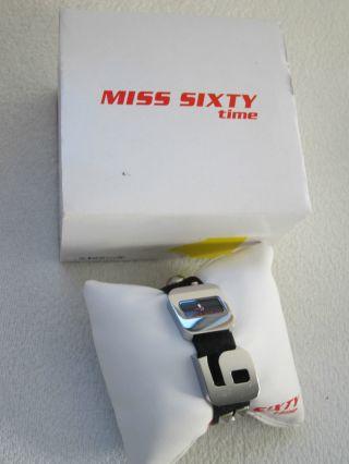 Miss Sixty Uhr.  Echtlederarmband.  In Der Originalverpackung.  Sehr Modische Uhr. Bild