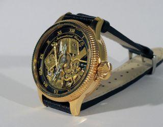 Iwc Armbanduhr Masonic Skelettuhr Skelton 49mm Ca.  1908 Mariage Bild