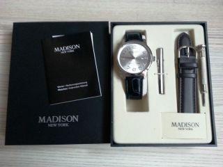 Herren Armbanduhr Madison York Ovp Mit Geschenkbox Bild
