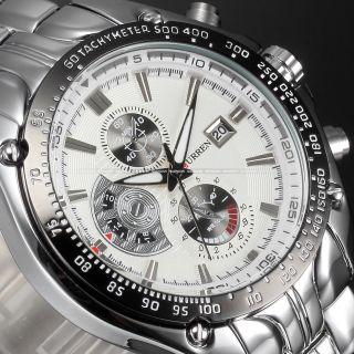 Curren Herren Uhr Armbanduhr Quarzuhren Watch Sportuhr Edelstahl Chronograph Bild
