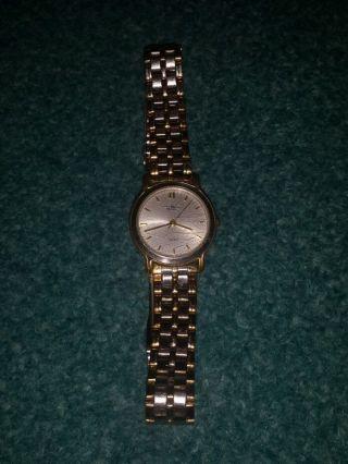 Tolle Uhr Royal Quartz Gold Silber Römisch Watch Batterie Stainless Steel Damen Bild