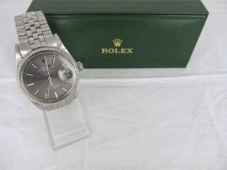 Rolex Datejust Automatik Stahl Jubileband - Ref.  1603 Von 1971 Bild
