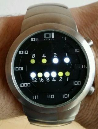 Armbanduhr - The One - Binary Edelstahl.  Mit Ovp In Schmuckdose Bild