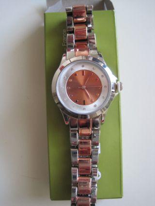 Sehr Schöne Damen - Uhr Rosegold Mit 12 Straßsteinen 35 Mm Bild