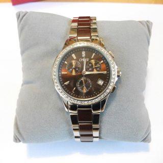Christ Damenuhr Uhr Chronograph Trend Silber/braun Mod.  85461702,  2 J. Bild