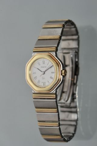 Damen Armbanduhr Wempe 750 Gold/stahl 5th.  Avenue Montre Watch Montre Ca 55 G. Bild