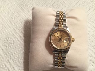 Rolex Datejust Lady Stahl - Gold 18 Karat 750 Gold Referenz 69173 Armband 468 B Bild