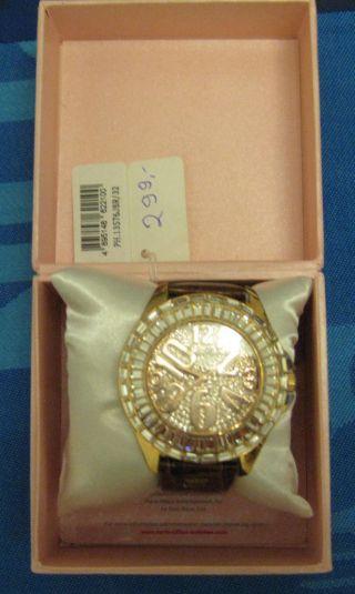 Schicke Damenuhr Paris Hilton Ph.  13576jsr/32 Strass Kroko - Armband Uvp 299€ Bild