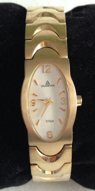 Damenuhr Armbanduhr Von Dugena Oval,  Gold / Titan Bild
