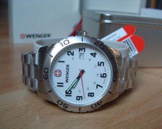 Schweizer Uhr Wenger Grenadier Drehbare Lünette Ovp 01.  0741.  102 Bild