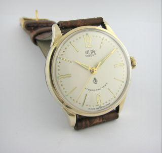 Legendary.  Gub Glashutte Q1 Chronometer.  Gold Plated.  Cal.  60.  3.  Top Bild