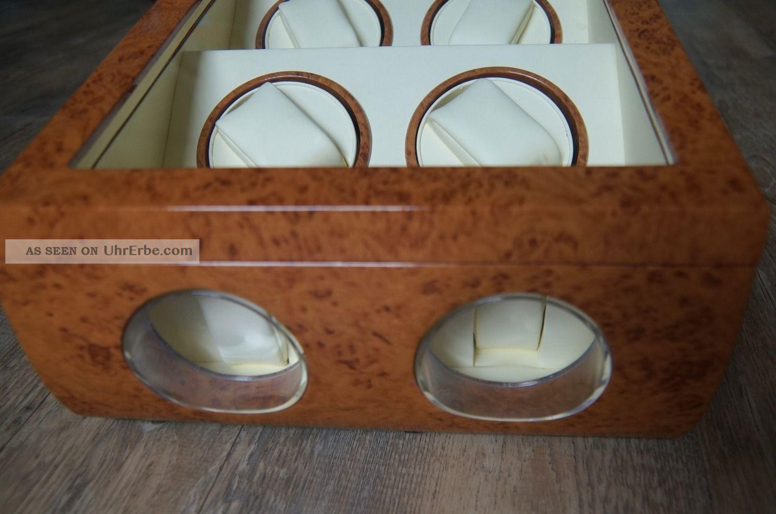 feinwerk uhrenbeweger f r 4 uhren automatischer uhrenbeweger 2 aufbewahrung. Black Bedroom Furniture Sets. Home Design Ideas