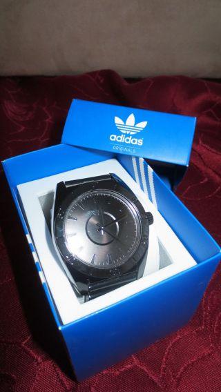 & Ovp Schwarze Adidas Originals Uhr Weihnachtsgeschenk,  Herren,  Unisex Bild