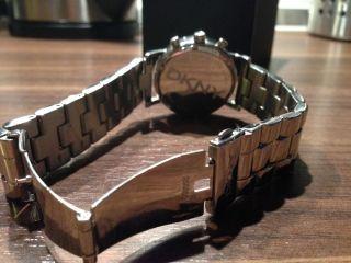 Dkny Damen Uhr Chronograph Weiß Silber Strass Edelstahl Armbanduhr Ny8339 Bild