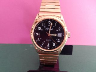 Herren Uhr Mitron Quartz Große 33 Mm. Bild