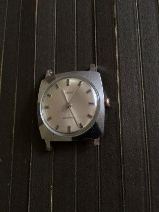 Vintage Klassische Timex Herrenarmbanduhr Handaufzug,  Funktioniert Bild