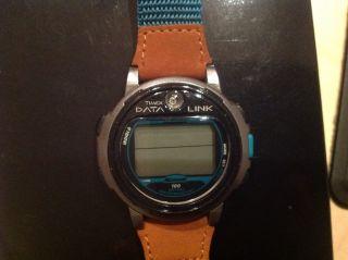 Timex Data Link Herren Armbanduhr M.  Braunem Lederband Bild