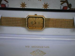 Eden Switzerland Damen Armbanduhr Goldfarbig Uhr Swiss Made Quartz Bild