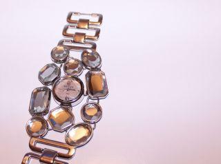 Guess Armband Uhr Statement Schmuck,  Viele Kristalle,  Wie Blogger,  Silber Bild