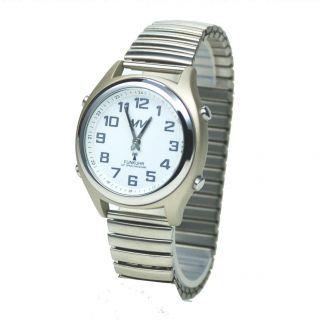 Sprechende Funkarmbanduhr Mit Metallzugband Armband - Uhr Blindenuhr Funkuhr 2008 Bild