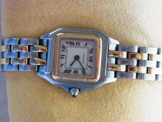 Cartier Lady Panthere Gold / Stahl Damenuhr Bild