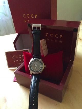 Nagelneue Und Verklebte Cccp Automatikuhr Sputnik 1 Schwarz Originalverpackt Bild