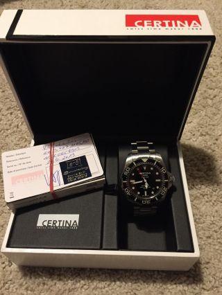 Certina Ds Action Diver Schwarz Automatic Armbanduhr Für Herren Bild