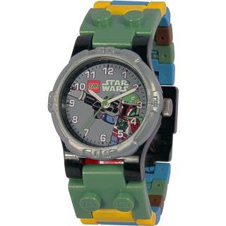Lego Star Wars Uhr Kinderuhr Armbanduhr: Boba Fett Clone Wars (ohne Minifigur) Bild