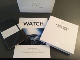 Iwc Paket 10 Teile Iwc Buch,  Iwc Moleskino Notizbuch,  6 Iwc Plakate,  Zeitschrift Bild