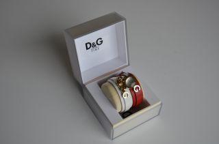 D&g Dolce & Gabbana Armbanduhr Uhr Weiß Rot Gold Bild