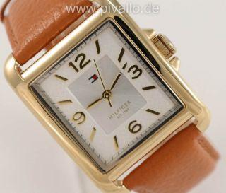 Tommy Hilfiger Damenuhr / Damen Uhr Leder Braun Silber 1781210 Bild