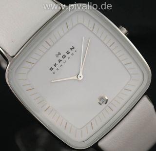 Skagen Damenuhr / Uhr Leder Datum Hiromichi Konno Special Edition Skw2013 Bild