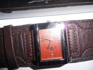 Armbanduhr Buffalo Lederarmband Bild