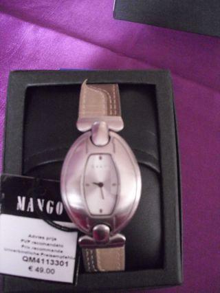 Armbanduhr Für Damen Von Mango Mit Lederarmband Bild