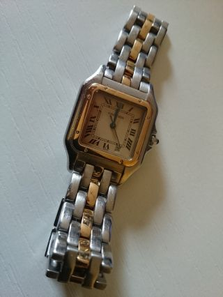Cartier Panthere,  Org.  Bicolor Damenuhr In Stahl/ 18k Gold Bild