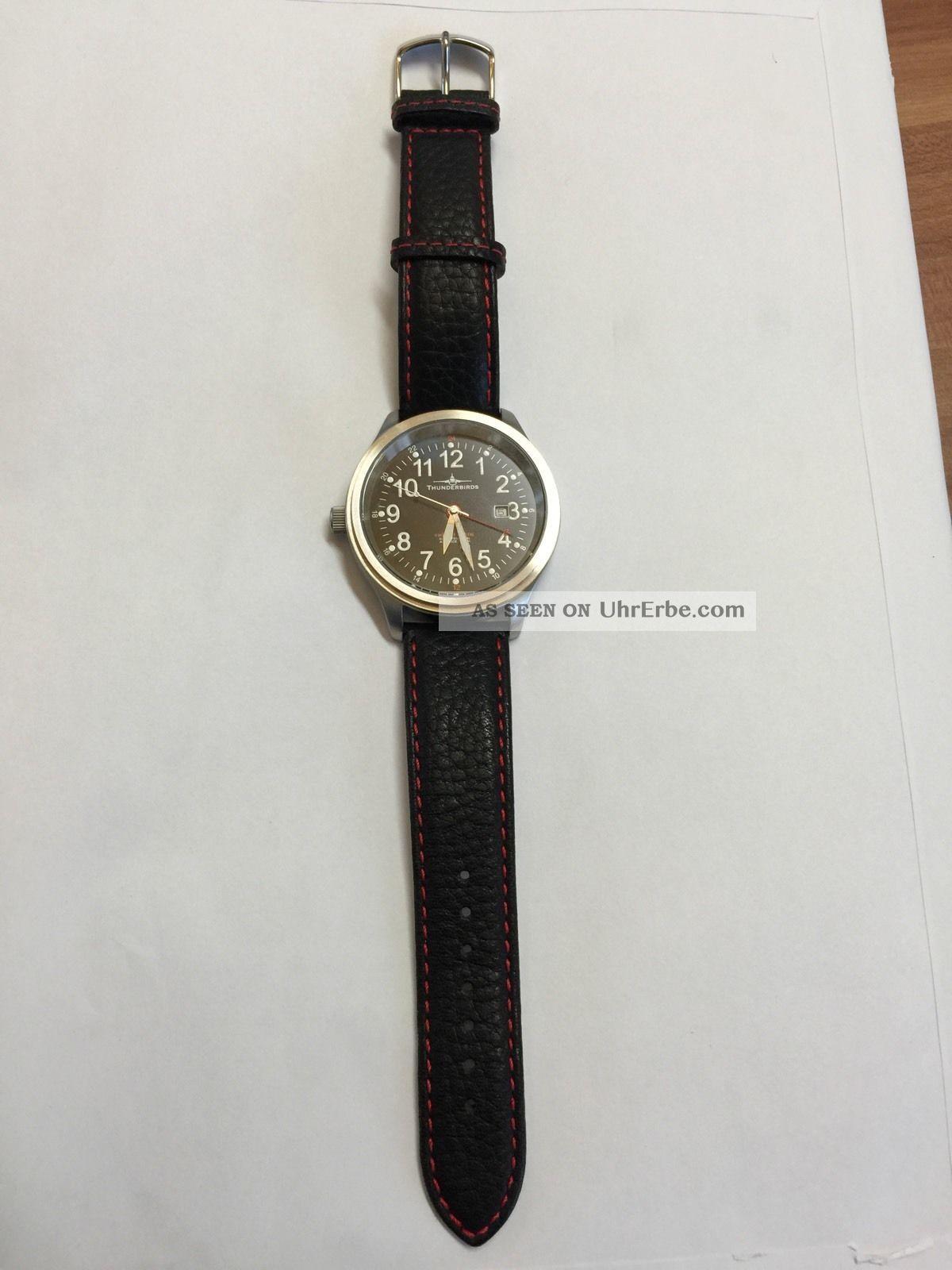 Riedenschild Thunderbird Herren Uhr Schwarz Leder