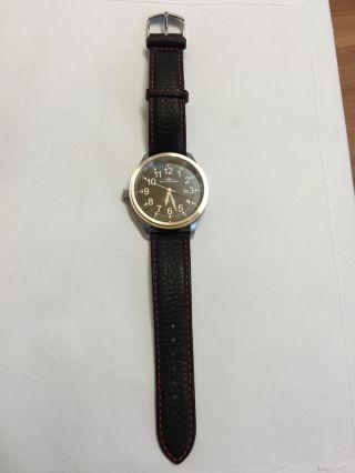 Riedenschild Thunderbird Herren Uhr Schwarz Leder Automatik 1045 Uvp 189eur Bild