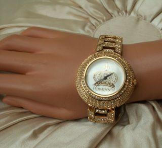 Harald GlÖÖckler ♛ Armbanduhr Gold Kristall Vergoldet PompÖÖs Uhr ♛ 136f Bild