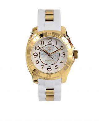Tommy Hilfiger Uhr Armbanduhr Damen Analog Quarz Weiß Gold 1781309 Bild