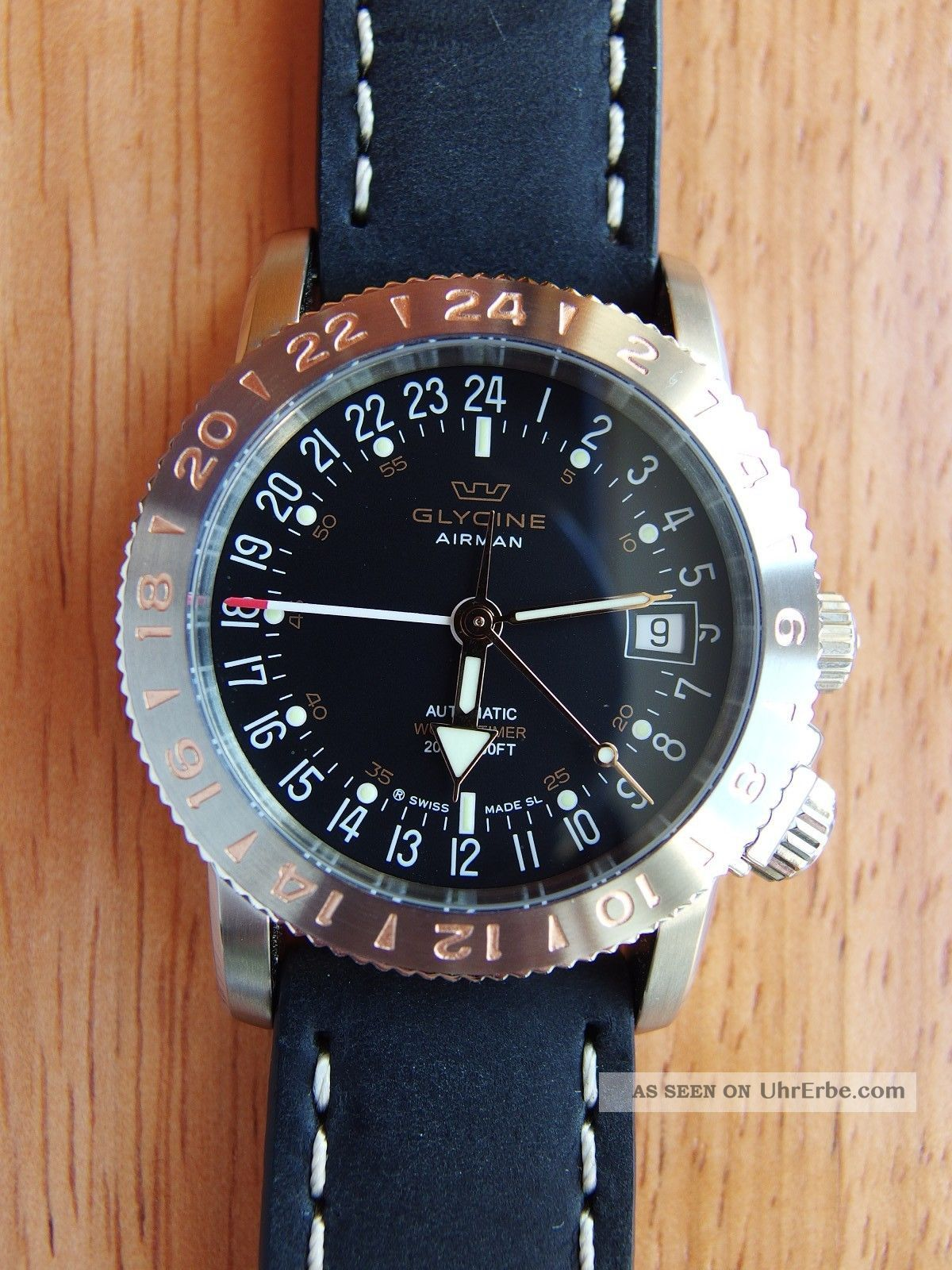 Glycine Airman 18 Ref.  3866.  196 - Lb9 Red Gold, Armbanduhren Bild