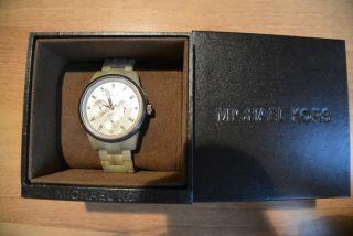 Michael Kors Analog Uhr Mk - 5641 Ovp Beige Gold Chronograph Bild