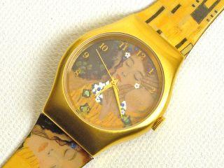 Künstleruhr Gustav Klimt Der Kuss - Laks Watch - Ungetragen - Limitiert Bild