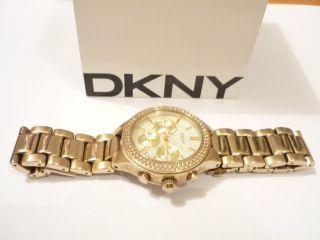 Dkny Ny 8058 Damen - Armbanduhr Chronograph Donna Karan Ny Gold Perlmutt Bild