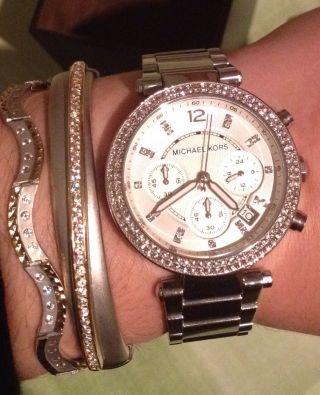 Michael Kors Damenuhr Armbanduhr Uhr Zirkonia Mk5353 Uvp 229 Bild