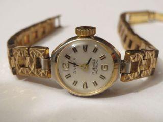 Bildschöne Antike Anker Damenuhr Handaufzug 60er Jahre Handaufzug Incabloc 17 St Bild